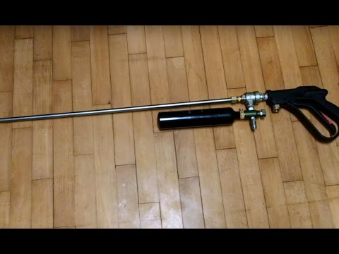 Pneumatic QEV Air Gun Rifle HOW TO Overview And Firing 300psi
