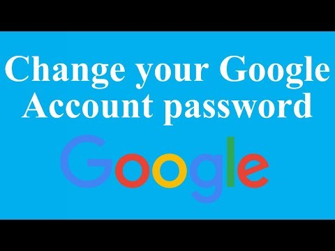 How to change Google Account password