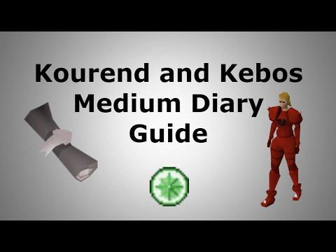 Kourend And Kebos Medium Diary Guide