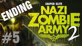 Sniper Elite: Nazi Zombie Army 2 Gameplay Walkthrough Part 5 ENDING Solo TOWER OF HELLFIRE