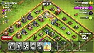 Clash of Clans: Town Hall 9 - All Wizards w/ Healing Spells