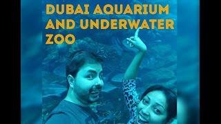 Visitando o Dubai Aquarium & Underwater Zoo