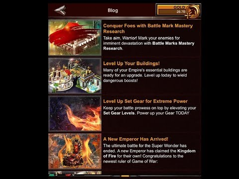 Game Of War: Crazy Releases? Level Up Set and Building, and Conquer Battle Mark Mastery Research