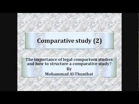 Comparative Study (2), Its importance and how to structure it
