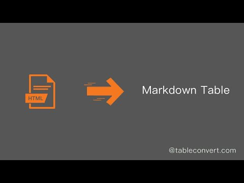 How To Convert HTML Code To Markdown Table Online?