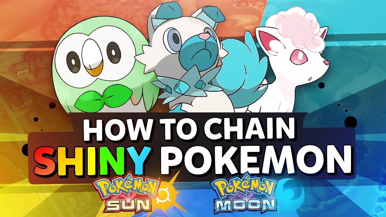 chaining shiny pokemon   pokemon sun & moon quick guide - youtube