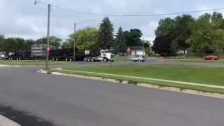 Oversize Load Power Transformer On Highway