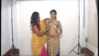 GUJRATI OR SIDDHA PALLA SAREE DRAPING