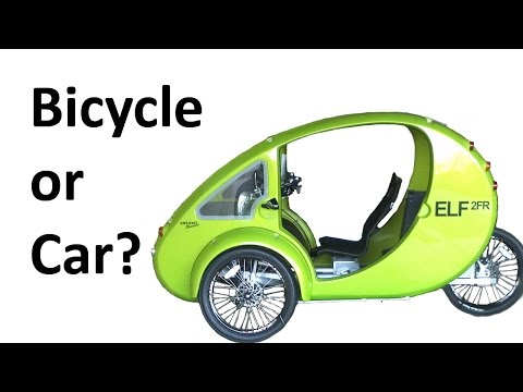 CAR vs BICYCLE: Organic Transit ELF 2FR - Velomobile / Passenger E-Bike