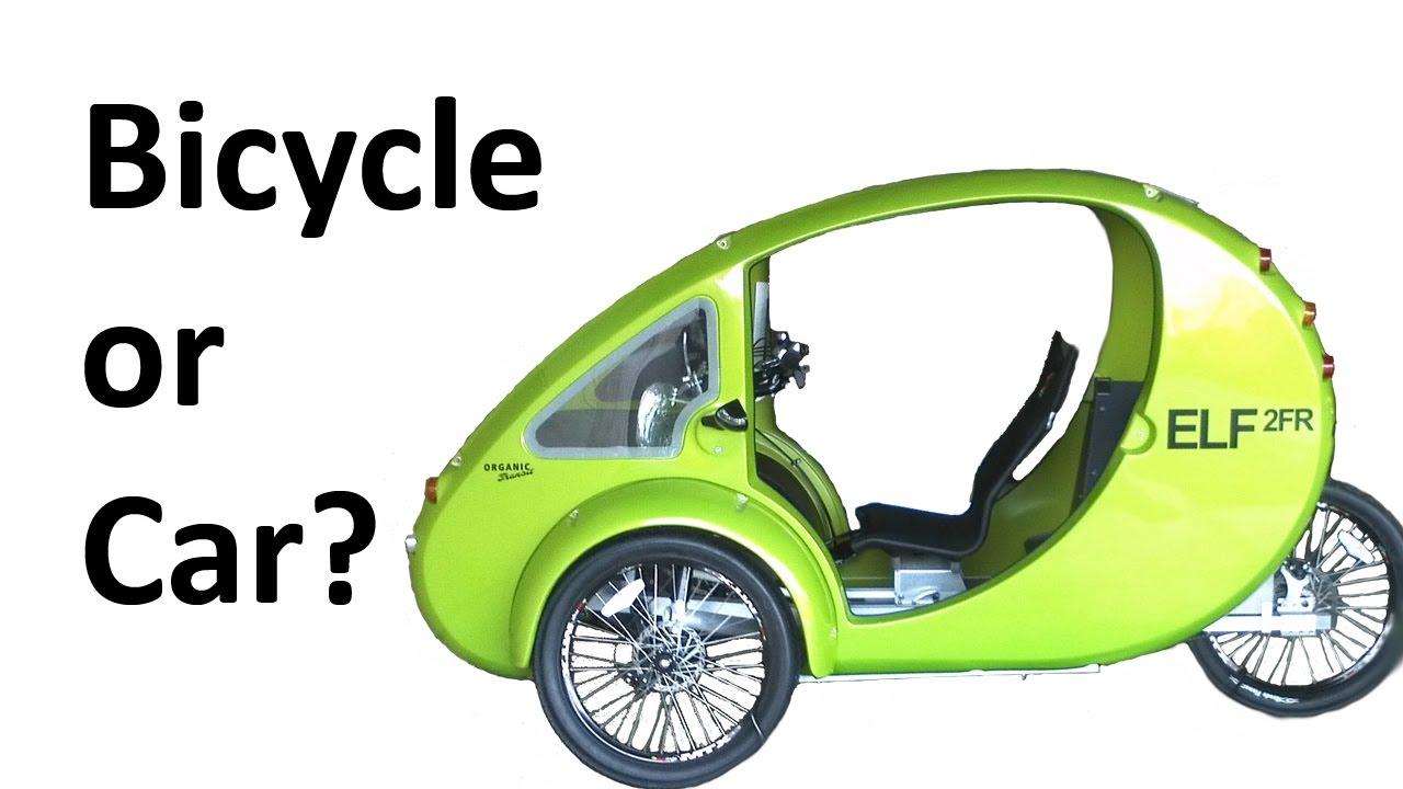 car vs bicycle organic transit elf 2fr velomobile passenger e bike youtube. Black Bedroom Furniture Sets. Home Design Ideas
