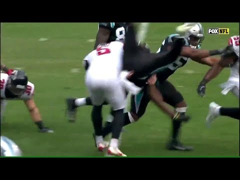 Matt Bosher Huge Hit on Kick Return | Falcons vs. Panthers | NFL