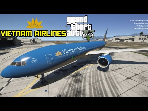 GTA 5 – Làm Phi Công Lái Máy Bay Boeing 777 VietNam Airline | Chuyến Bay Từ GTA 5 Sang GTA Vice City