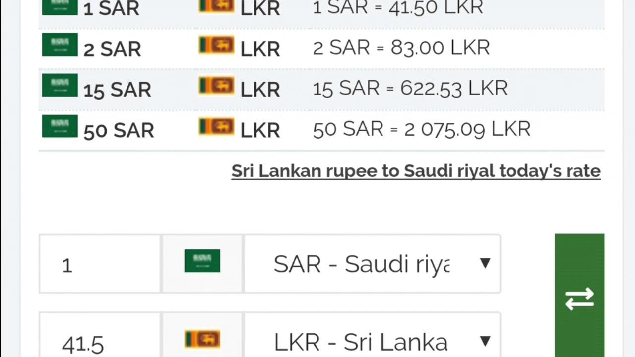 Saudi Arabia Riyal Exchange Rate Today