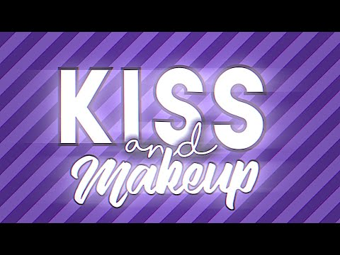 Kiss And Makeup Short Typography💜