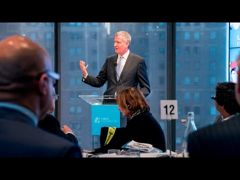 Inclusive Growth in Cities: Mayor Bill de Blasio