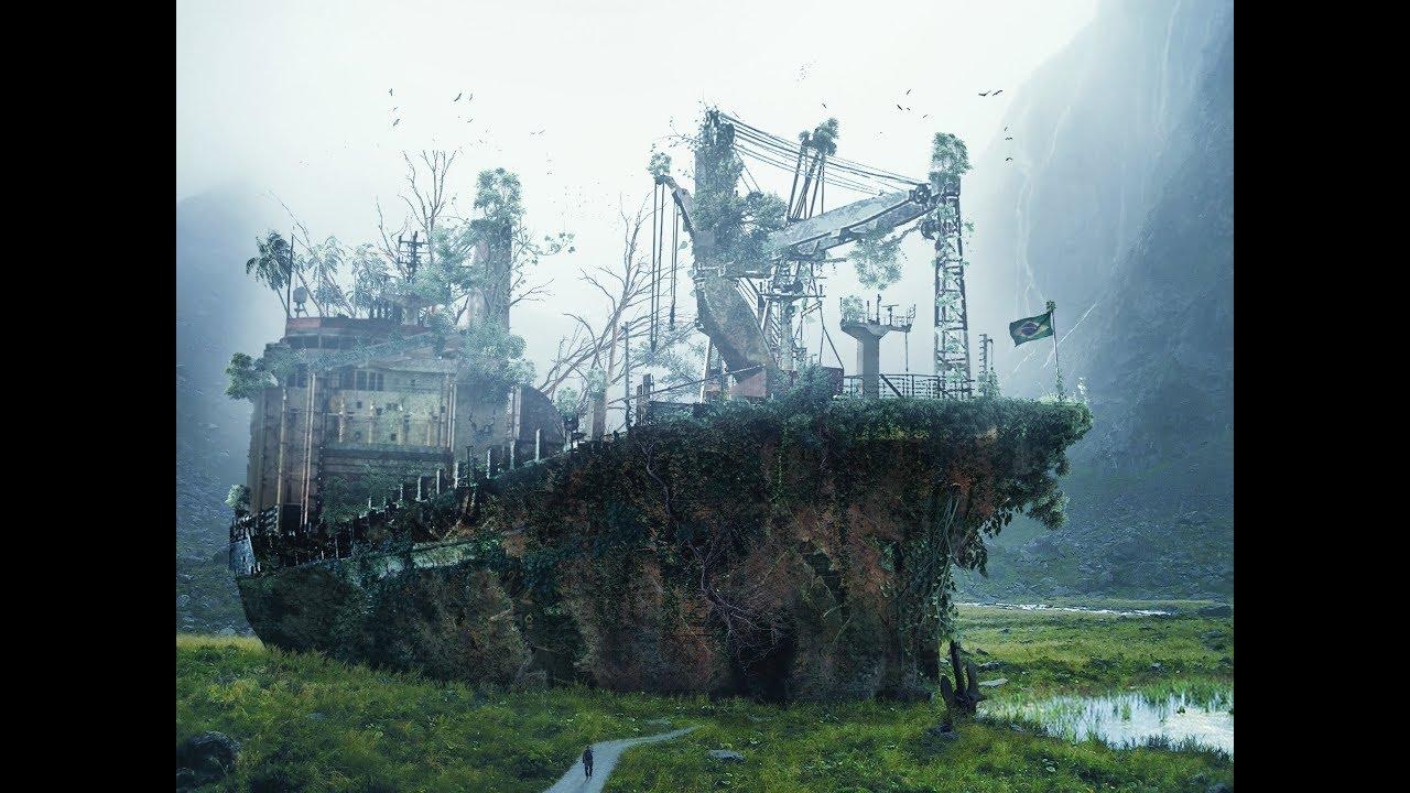 speed art - dead- ship surreal-fantasy
