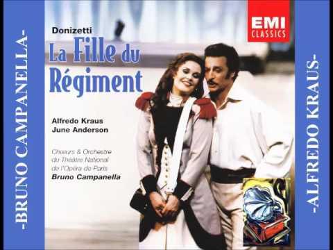 LA FILLE DU REGIMENT. G. Donizetti. (Anderson & Kraus)