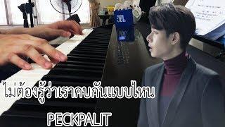 ไม่ต้องรู้ว่าเราคบกันแบบไหน - Peck Palitchoke (Piano Cover) | Pleumbluebeans