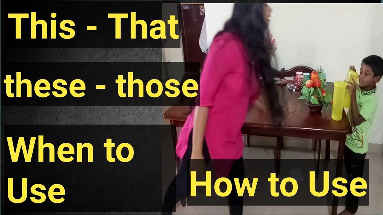 Kusuma Vasavi Telugu Vlogs - When to use this that these those video|Telugu ammayi