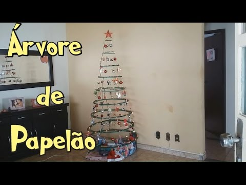 Arvore De Natal De Papelao Simples Facil E Barata Youtube