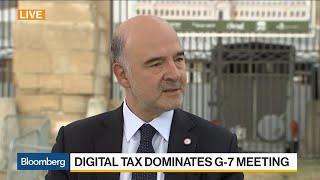 EU's Moscovici on Libra, Digital Taxation, Global Economy, IMF