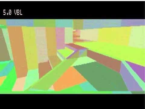 Atari Quake 2: filled faces, false colour