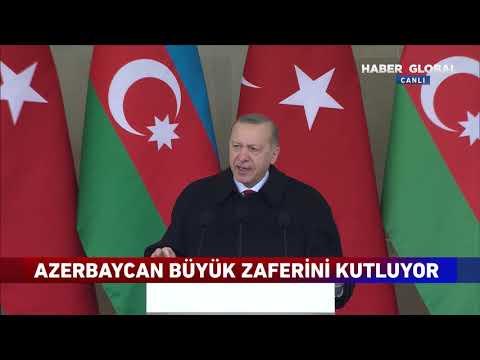 Zafer Geçidi Töreninde Konuşan Erdoğan: 'Bu Zaferde Aliyev Kardeşimin Payı Büyüktür'