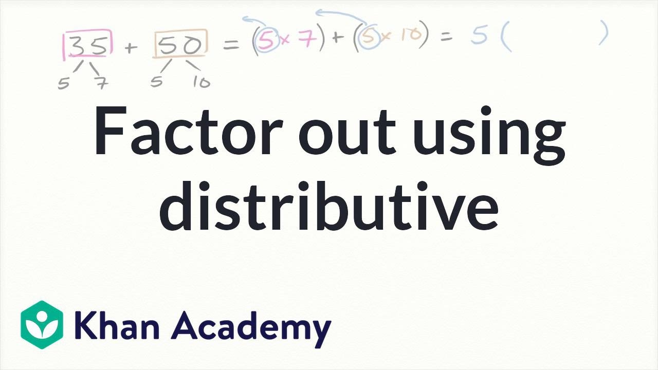 medium resolution of Factor with the distributive property (video)   Khan Academy