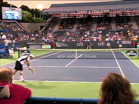 James Blake v. Marco Chiudinelli, games 2&3, in Washington, DC, at the Citi Open, 8.1.12