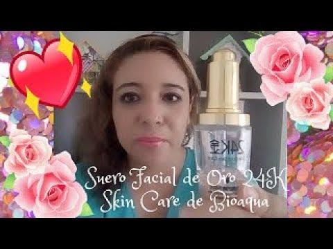 😍💧 Como Usar El Suero Facil de Oro 24K Skin Care de Bioaqua 💖🌺