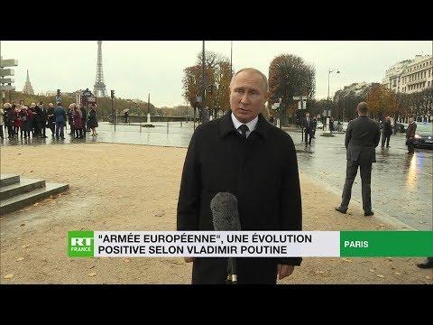 Vladimir Poutine s'exprime sur le projet français d'«armée européenne» (EXCLUSIF)