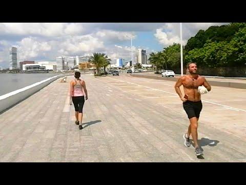Caminando en la Playa de Veracruz #2 Walking Tour Beach Mexico 4k