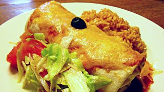 Bean and Cheese Burrito - Mexican Food Restaurant Secrets for Home Cooking - PoorMansGourmet