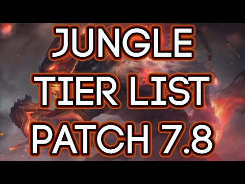 Jungle Tier List Patch 7.8 | Best Junglers To Carry Solo Queue Patch 7.8