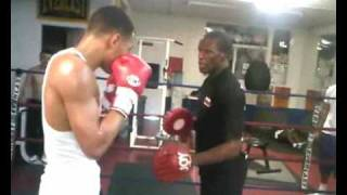 Floyd Mayweather Training Chris Eubank Jr (Amazing Padwork)