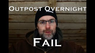 Solo Winter Overnight Camp Bushcraft Outpost