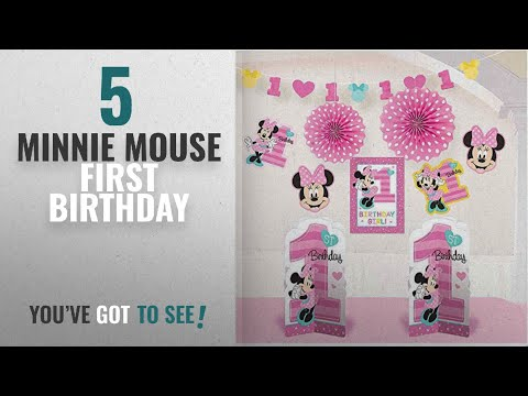 Top 10 Minnie Mouse First Birthday [2018]: 1st Birthday Minnie Mouse Room Decorating Kit 10 piece