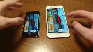 iPhone 7 Plus vs iPhone SE iOS 10 Speed Test Comparison