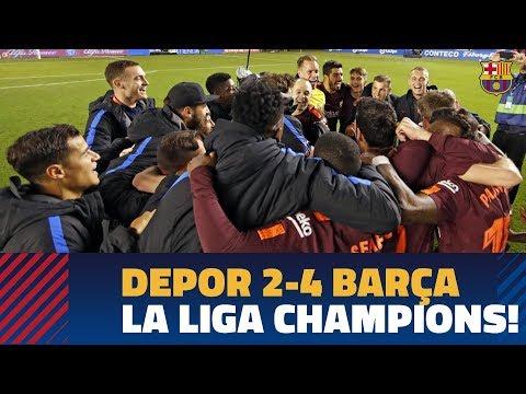 Deportivo 2-4 barÇa | la liga title celebrations!