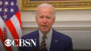 Biden speaks about economic recovery and COVID relief plan