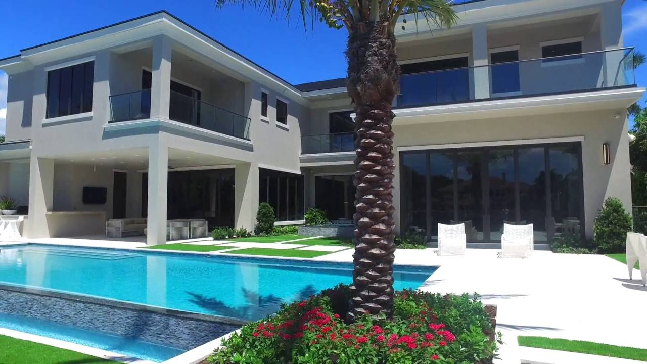 Contemporary dockside multi million dollar home youtube for Modern million dollar homes