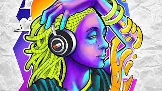 MULHER OUVINDO MÚSICA   Psicodelia   Psychedelic - Desenha e Fala   Speed Drawing #109