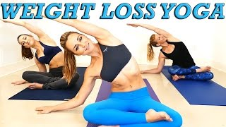 Yoga Weight Loss Challenge! 20 Minute Fat Burning Yoga Workout Beginners & Intermediate thumbnail