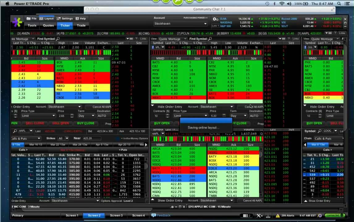 030713 Watch Him Trade  Screen Share Live Trading AAPL