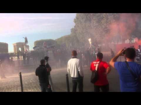 Manifestation Ultras à Montpellier du 13/10/12 - Départ du Cortège