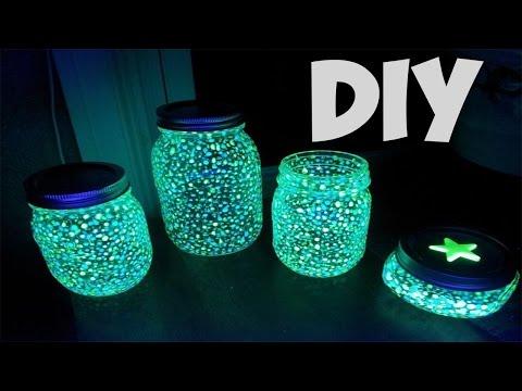 DIY GLOW IN THE DARK PARTY LIGHTS IN A JAR! (EASY)