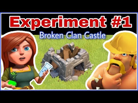 EXPERIMENT #1 - Will C.C. Troops Come Out From A Destroyed Clan Castle? | CLASH OF CLANS