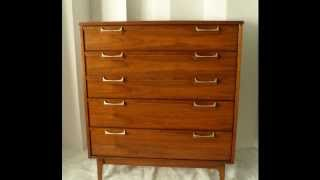 Mid Century Furniture 4 Less.com  Mid Century Modern Vintage Burled Walnut Chest Of Drawers