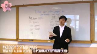 #kso12015 Semi-finals : Individuals Not Permanently Own Land