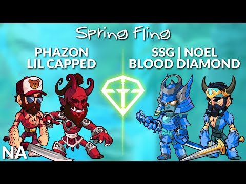 Phazon & Lil Capped vs noeL & Blood Diamond - NA 2v2 Top 3 - Brawl League Spring Fling